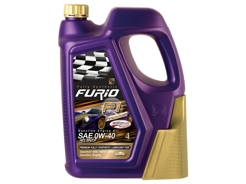 FURiO F1 PREMIUM 0W 40 0W-40 0W40 Respoplex  fully synthetic 100% engine oil gasoline API SN/CF