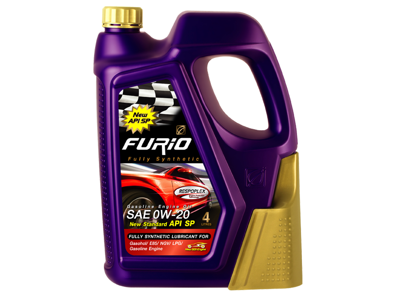 FURiO FULLY SYNTHETIC 0W-20 is a fully synthetic engine oil for hybrid car Hybrid Car, Eco Car and modern technology gasoline engines