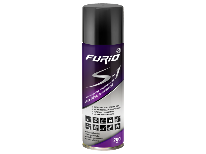 FURiO S-1 Penetrating Oil is a spray on multi-purpose penetrating oil Superior lubrication, squeaky friction reduce, and loosen rusted parts