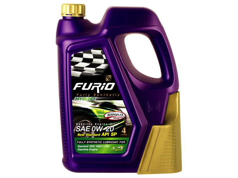 FURiO FULLY SYNTHETIC HYBRID 0W-20 is a fully synthetic engine oil for hybrid car Hybrid Car, Eco Car and modern technology gasoline engines