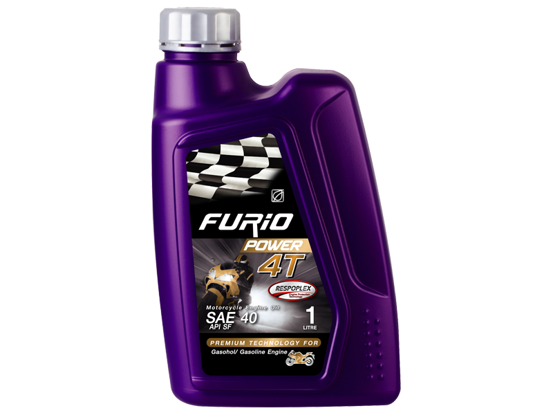FURIO POWER 4T is a monograde SAE 40 lubricating oil for automatic transmission four-stroke